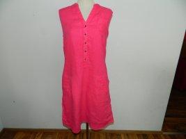 Lerros Sukienka z krótkim rękawem różowy-różowy Len