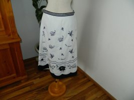 Circle Skirt white-black cotton