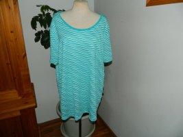 Laura Torelli T-Shirt white-turquoise viscose