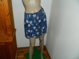Esprit Wikkelrok donkerblauw Polyester