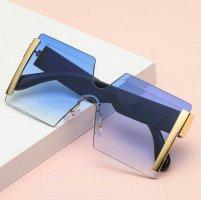 Bril neon blauw