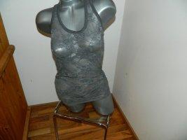 Kbk Top di merletto grigio