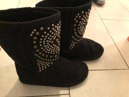 Halfhoge laarzen zwart-goud