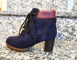 Venturini Stivaletto spuntato marrone chiaro-blu