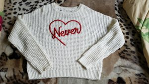 Ohne Knitted Sweater natural white-bright red