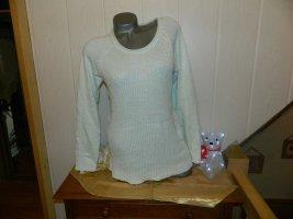 Blue Motion Sweter z okrągłym dekoltem jasnoniebieski-jasnoniebieski Bawełna