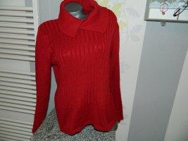 Giada Maglione lavorato a maglia carminio Cotone