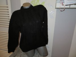 Jersey trenzado negro Acrílico
