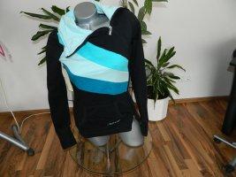 Sublevel Chaqueta estilo camisa negro-azul claro Algodón
