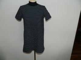 Zara Trafaluc Camisa de cuello de tortuga negro-blanco Algodón