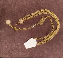 Chain Belt white-gold-colored