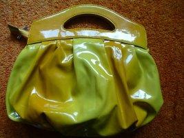 Sandalo infradito con tacco alto giallo neon-oro
