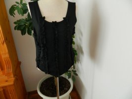 Simply the best Frill Top black polyester