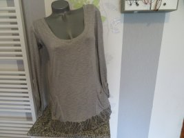 Made in Italy Camicia a tunica grigio Viscosa