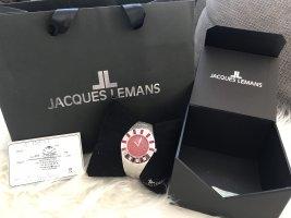 Jaques Lemans Zegarek z metalowym paskiem srebrny