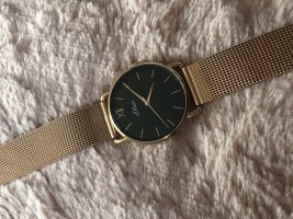 s.Oliver Watch With Metal Strap black-sand brown