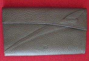 Damen Unterarmtasche VOI Leder grau 29,5 x 17,5cm