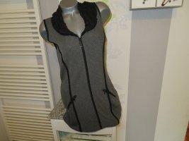 Yest Gilet long tricoté noir-gris foncé