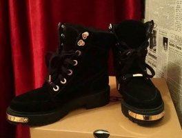 Damen Winter Schnür Boots ,Stiefel mit  in Leder warm gefüttert ...