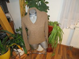 Daniel Hechter Jeans Cable Sweater light brown wool