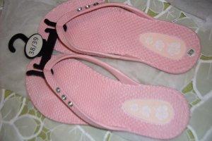 Damen Zehen - Sandalen , Gr :  38 - 39 ,  Farbe :  Rose