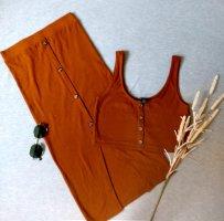 Amisu Woven Twin Set cognac-coloured