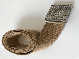 Pasek z materiału camel