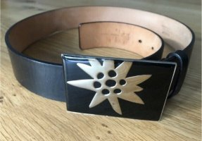 Bally Cinturón de cuero negro-color plata Cuero