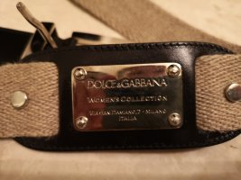 Dolce & Gabbana Canvas riem licht beige-oker Linnen