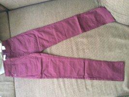 AJC Spodnie rurki bordo