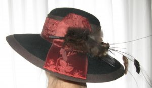 Traditional Hat multicolored mohair