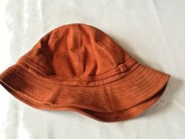 Cloche Hat russet leather
