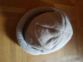 Wollen hoed beige