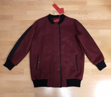 Hugo Pea Jacket black-bordeaux