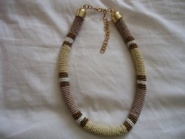 Necklace light brown-brown