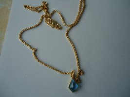 Colgante color oro-azul neón