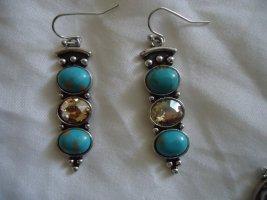 Statement Earrings neon blue-light grey