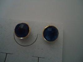 Damenohrringe blauer Saphir bergoldet