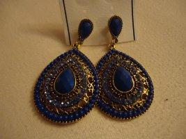 Statement Earrings dark blue