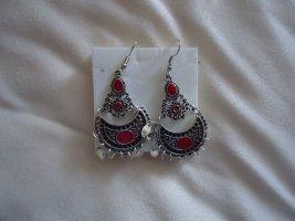 Statement Earrings carmine-light grey