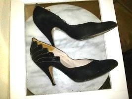 Damenpumps von Harrink Design- schwarz - Gr.38- Leder