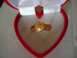 Statement ring donkergeel