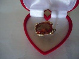Zdobiony pierścionek pomarańczowy neonowy