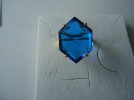 Zilveren ring blauw