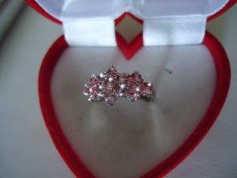 Damenring silber Morganit pink