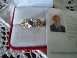 Harry Ivens Bague en argent multicolore