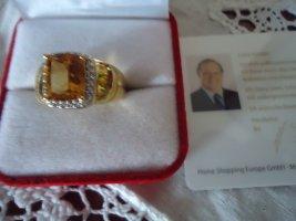 Harry Ivens Anello d'argento oro-arancione chiaro