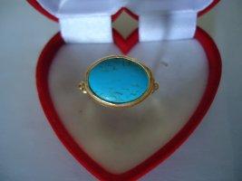Zdobiony pierścionek jasnoniebieski