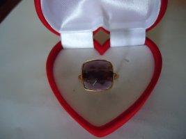 Damenring vergoldet  Amethyst