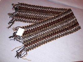 Bonita Bufanda de flecos marrón
